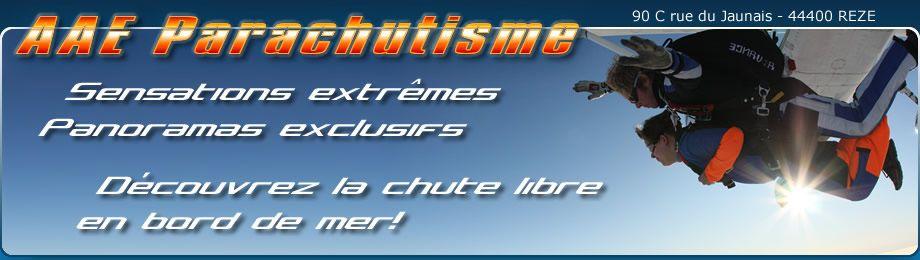 Parachutisme & chute libre proche de Nantes