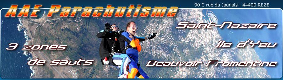 Saut en parachute à St-Nazaire, Ile d'Yeu, Beauvoir Fromentine