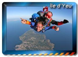 zones de sauts en parachute à Île d'YEU